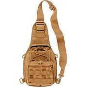 BULLDOG BDT X-SMALL SLING BAG` W/MOLLE WEBBING TAN
