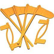 MTM PISTOL & RIFLE CHAMBER INDICATOR FLAGS 8-PACK YELLOW