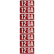 MTM AMMO CALIBER LABELS 12GA 8-PACK