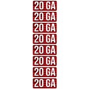 MTM AMMO CALIBER LABELS 20GA 8-PACK