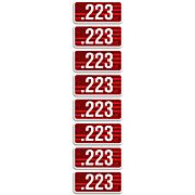MTM AMMO CALIBER LABELS .223 8-PACK
