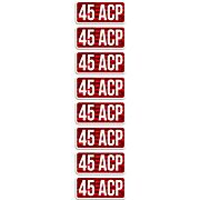 MTM AMMO CALIBER LABELS .45ACP 8-PACK
