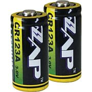 PSP ZAP CR123A BATTERIES LITHIUM 2-PACK