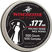 WINCHESTER .177 RN PELLET 500 COUNT TIN 6 PACK CASE