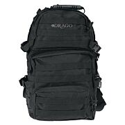 DRAGO ASSAULT BACKPACK BLACK MAX CAP STORAGE COMPARTMENTS