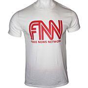 GI MEN'S T-SHIRT TRUMP FAKE NEWS NETWORK SMALL WHITE!