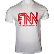 GI MEN'S T-SHIRT TRUMP FAKE NEWS NETWORK XX-LARGE WHITE!