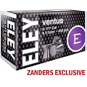 ELEY VENTUS PELLETS .177 4.51MM 8.2 GRAINS 450-PACK