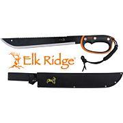 "MC ELK RIDGE MACHETE 21.5"" BLADE W/SHEATH D-HANDLE BLK/SS"