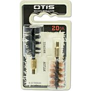 OTIS BORE BRUSH .20 GA 2-PACK 1-NYLON 1-BRONZE 8-32MM THREAD