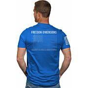 NINE LINE APPAREL FREEDOM DIMS MEN'S T-SHIRT ROYAL 2X-LARGE