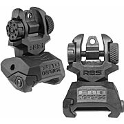 F.A.B. DEFENSE FRONT & REAR BACK UP SIGHTS BLACK