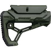 F.A.B. DEFENSE BUTTSTOCK AR-15 /M4 OD GREEN ADJ CHEEK PIECE