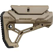 F.A.B. DEFENSE BUTTSTOCK AR-15 /M4 FDE ADJ CHEEK PIECE