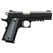 BG BLACK LABEL PRO 1911-380 380ACP FNS 8-SH W/RAIL BLK G10