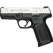 "S&W SD9VE 9MM 4"" FS 10-SHOT SILVER SS SLIDE/BLACK POLY"