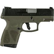 TAURUS G2S SLIM .40S&W 6-SHOT 3-DOT ADJ. BLACK/OD GREEN