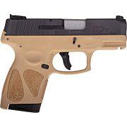 TAURUS G2S SLIM 9MM 7-SHOT 3-DOT ADJ. BLACK/TAN  POLYMER
