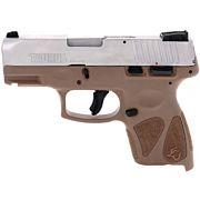 TAURUS G2S SLIM 9MM 7-SHOT 3-DOT ADJ. SS/BROWN POLYMER