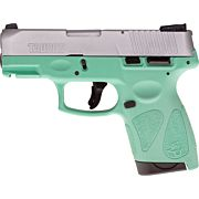 TAURUS G2S SLIM 9MM 7-SHOT 3-DOT ADJ. SS/CYAN POLYMER