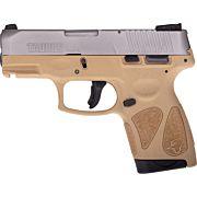 TAURUS G2S SLIM 9MM 7-SHOT 3-DOT ADJ. SS/TAN POLYMER
