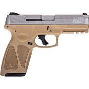 TAURUS G3 9MM 17-SHOT 3-DOT ADJ. TAN/STAINLESS POLYMER
