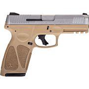 TAURUS G3 9MM 15-SHOT 3-DOT ADJ. TAN/STAINLESS POLYMER