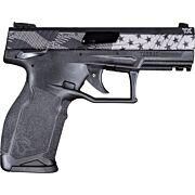 """TAURUS TX-22 .22LR 4.1"""" ADJ. 10-SHOT  BLACK US FLAG"""