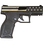 """TAURUS TX-22 .22LR 4.1"""" ADJ. 16-SHOT  BLACK US FLAG"""