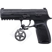 """SIG P320 9MM 4.7"""" TEXAS RANGER NGT SGT 17 SHOT BLACK POLYMER"""