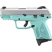 RUGER SECURITY-9 COMPACT 9MM ADJ 10-SHOT TURQUOISE/SS