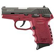 SCCY CPX1-CB PISTOL DAO 9MM 10RD BLACK/CRIMSON SAFETY