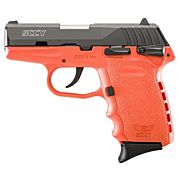 SCCY CPX1-CB PISTOL DAO 9MM 10RD BLACK/ORANGE SAFETY