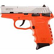 SCCY CPX1-TT PISTOL DAO 9MM 10RD SS/ORANGE SAFETY