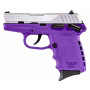 SCCY CPX1-TT PISTOL DAO 9MM 10RD SS/PURPLE MANUAL SAFETY