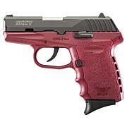 SCCY CPX2-CB PISTOL DAO 9MM 10RD BLACK/CRIMSON W/O SAFETY