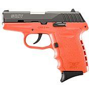 SCCY CPX2-CB PISTOL DAO 9MM 10RD BLACK/ORANGE W/O SAFETY