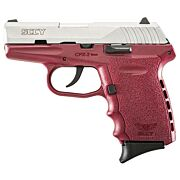SCCY CPX2-TT PISTOL DAO 9MM 10RD SS/CRIMSON W/O SAFETY