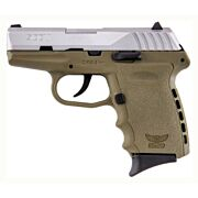 SCCY CPX2-TT PISTOL DAO 9MM 10RD SS/FDE W/O SAFETY