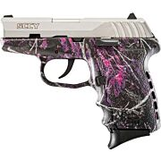 SCCY CPX2-TT PISTOL DAO 9MM 10RD SS/MUDDY GIRL W/O SAFETY