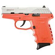 SCCY CPX2-TT PISTOL DAO 9MM 10RD SS/ORANGE W/O SAFETY