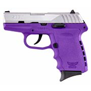 SCCY CPX2-TT PISTOL DAO 9MM 10RD SS/PURPLE W/O SAFETY