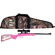 CRICKETT RIFLE G2 .22LR BLUED/ PINK SYNTH W/SCOPE AND CASE