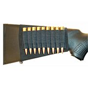 GROVTEC RIFLE SHELL HOLDER BLK BUTTSTOCK SLEEVE OPEN STYLE