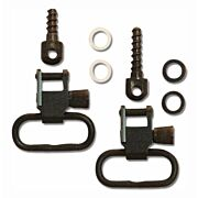 GROVTEC SWIVEL SET WITH TWO WOOD SCREW & SPACERS BLACK