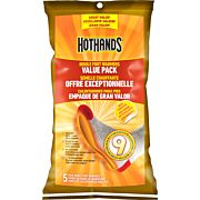HOTHANDS INSOLE FOOT WARMER 5 PAIRS PER BAG 9 HOUR W/ADHSV