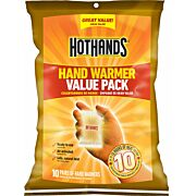 HOTHANDS HAND WARMER VALUE PACK 10 PAIRS PER PACK 10 HOUR