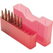 MTM AMMO BOX MEDIUM RIFLE 20-ROUNDS SLIP TOP STYLE CLRED