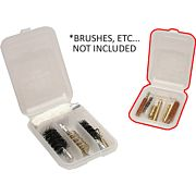 MTM JAG & BRUSH CASE 4-COMPARTMENTS CLEAR