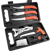 OUTDOOR EDGE JAEGER-PAK 8 PIECE BUTCHER SET W/HARD CASE